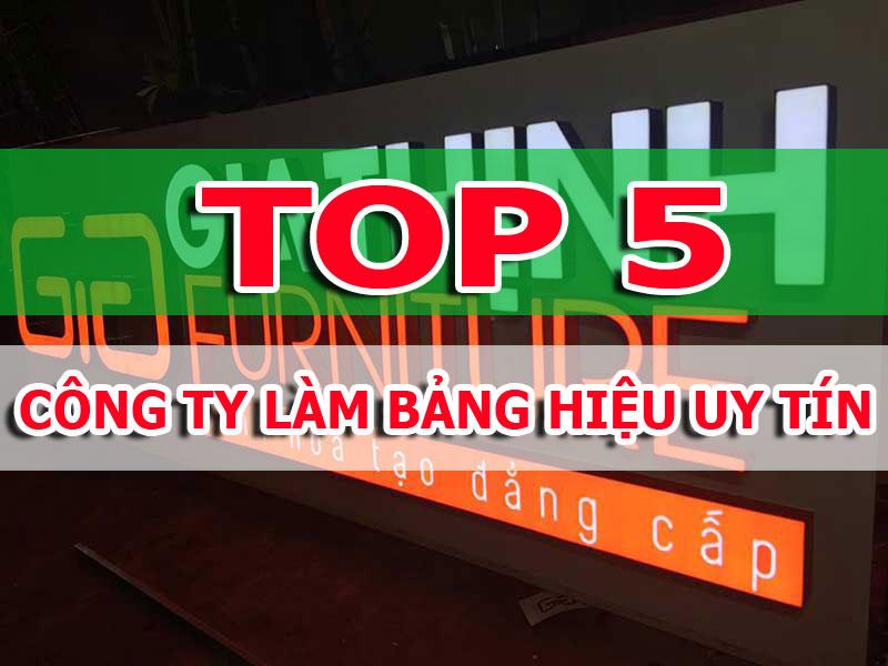 Top 5 công ty làm bảng hiệu uy tín