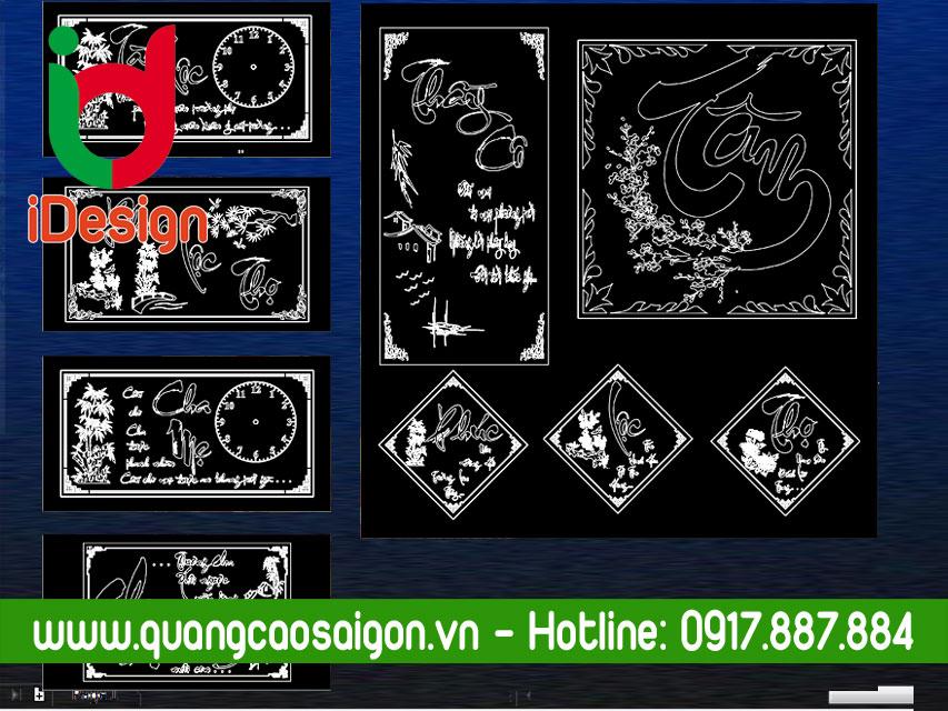 File Vector Đồng Hồ Khắc Mica
