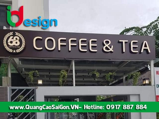 Bảng hiệu alu quán cafe - Bố trí hợp lý