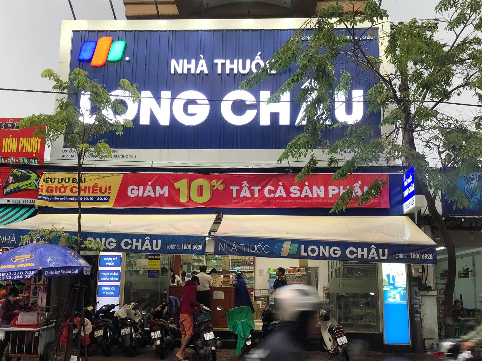 Bảng hiệu nhà thuốc Long Châu