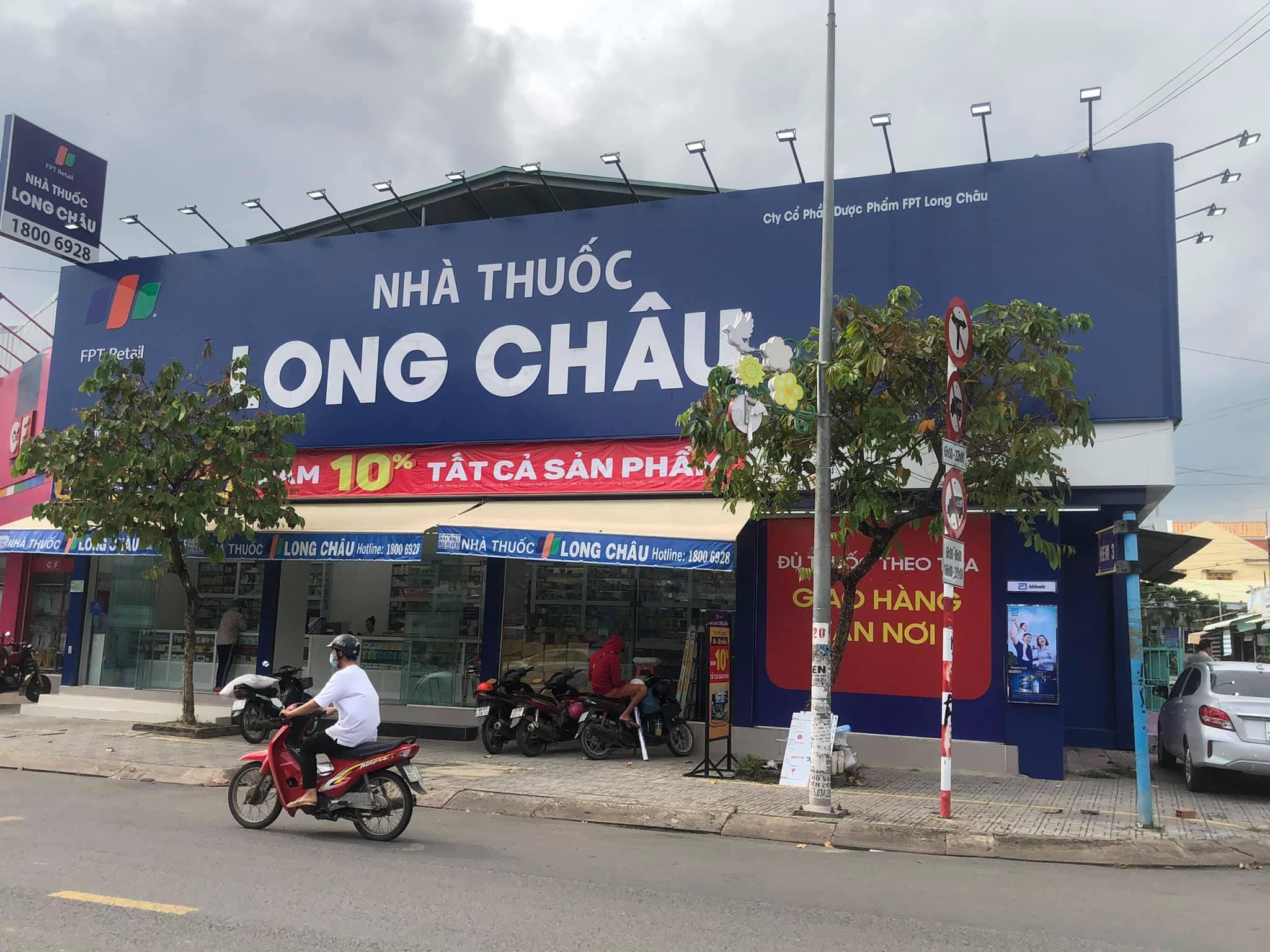 Thi công bảng hiệu nhà thuốc Long Châu